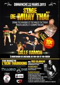 - Dimanche 22 Mars 2015 - Salle Hamon à Montauban de Bretagne  STAGE DE MUAY THAI  - Stage technique et technicotactique avec Fred Dejonghe ; entraineur de l'AS cobra